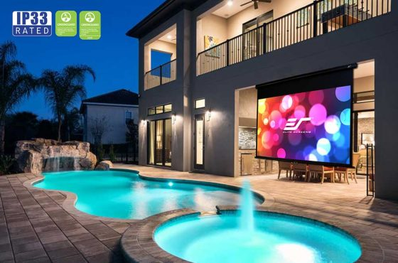 Just in time for the Holidays and the coming Spring, Elite Launches New Outdoor Retractable Projection Screen
