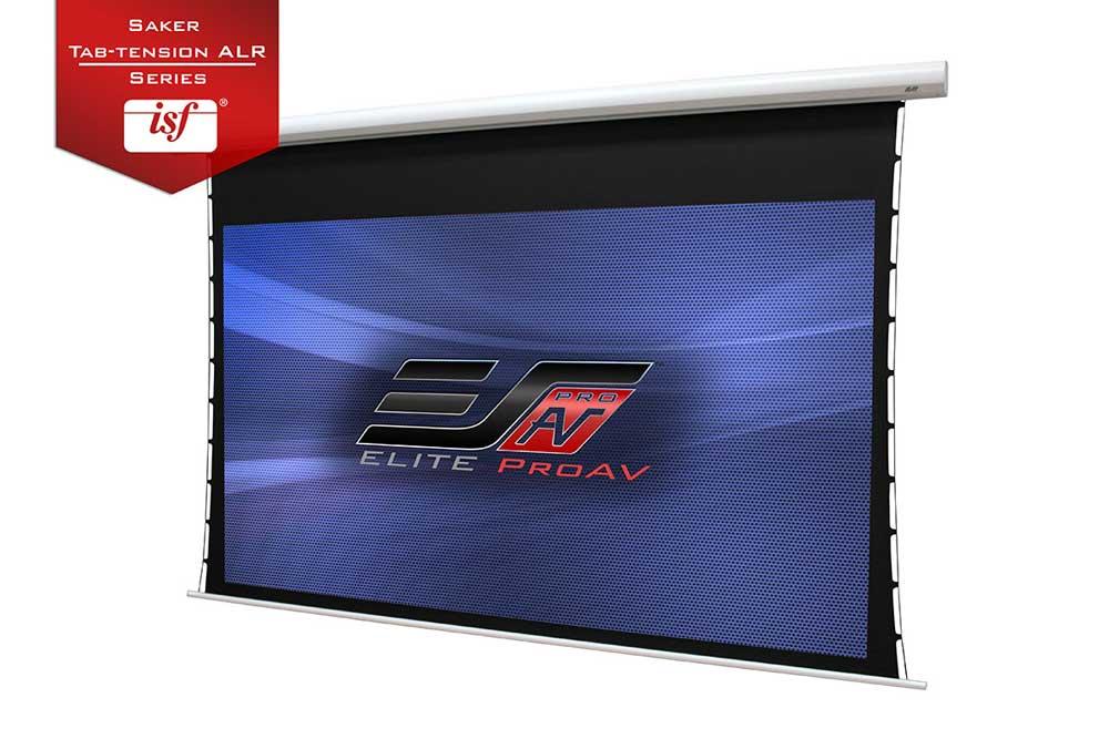 EliteProAV's Saker Tab-Tension ALR projection screen
