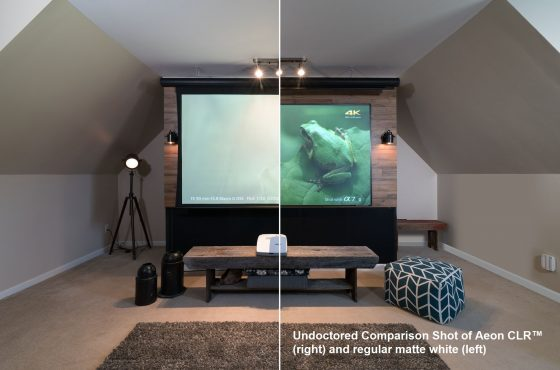 Sound and Vision Magazine's Al Griffin Evaluates the Aeon CLR® Projection Screen