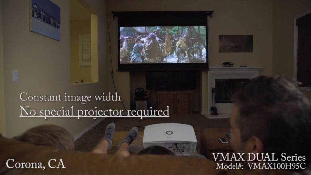 VMAX Dual® Projection Screen Corona, California