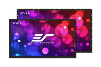 """Elite Screens Launches New DIY Pro Dual, 2-Way """"Do-it-Yourself"""" Outdoor Projection Screen"""