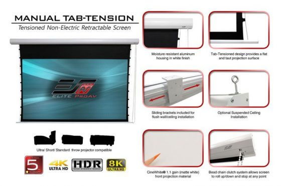 Manual Tab-Tension Screen for the ProAV Channel