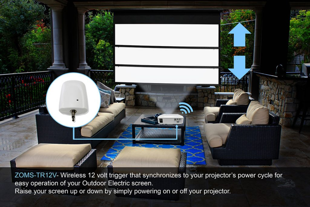Yard Master Electric outdoor projector screen
