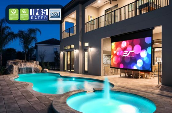 I want an outdoor projector screen for my home but it will be on a board & batten wall; can this be done?