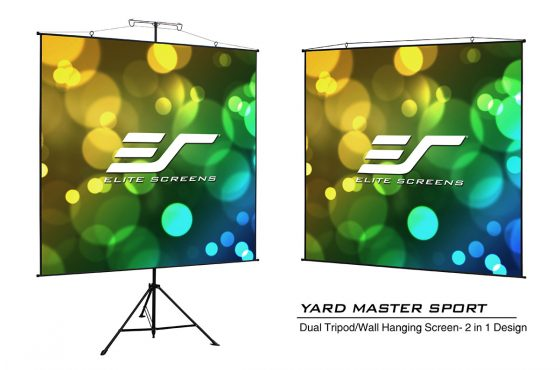 Yard Master Sport Is An Ultralight 4-lb. Projection Screen That Can Be Free-Standing or Wall-Mounted for Indoor/Outdoor Presentations