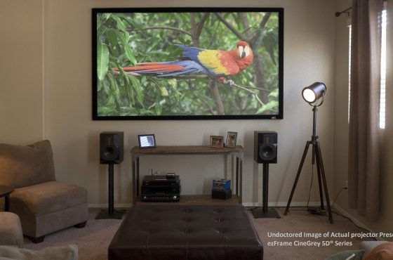 Widescreen Reviews' Doug Blackburn Evaluates the ezFrame CineGrey 5D® Series ALR Projection Screen