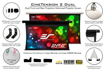 Elite Screens CineTension 2 Dual, 2-Way Electric Projection Screen at the Beverly Hills Playhouse