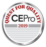 EPV Screens Wins 2019 CE Pro Quest for Quality Award