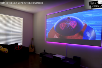 Unbox Junkie Evaluates the Aeon (AR120WH2) Matte White Fixed-Frame Projection Screen