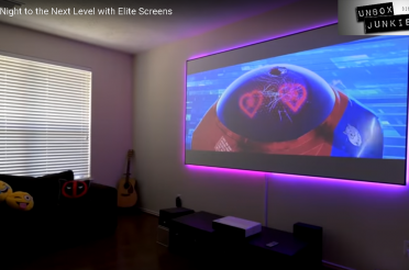 Unbox Junkie Evaluates Elite Screens' Aeon Matte White Fixed-Frame Projection Screen
