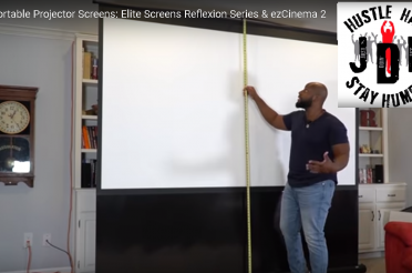 Just Doin' Life Reviews Elite Screens' Reflexion Series & ezCinema 2 Portable Projection Screens