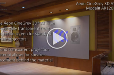 Elite Screens Aeon CineGrey 3D® AT – EDGE FREE® Acoustic Transparent Ambient Light Rejecting Screen