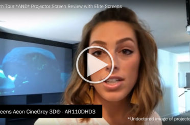 Host of The Blissful Bee and Popular Online Interior Design Expert Showcases Elite Screens' Aeon CineGrey 3D® in Her Latest Media Room Project