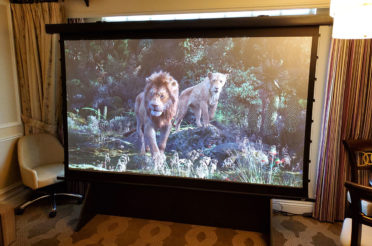 CES 2020: Elite Screens MT106UHD5 Manual Tab-tension Projector Screen | Crutchfield