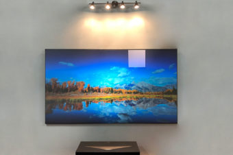 Aeon CLR® 2 Ceiling and Ambient Light Rejecting Fixed Frame Projection Screen