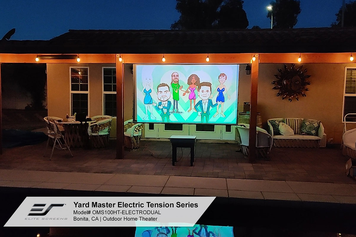 Joelster G4K Reviews The Yard Master Electric Tension Outdoor Projection Screen
