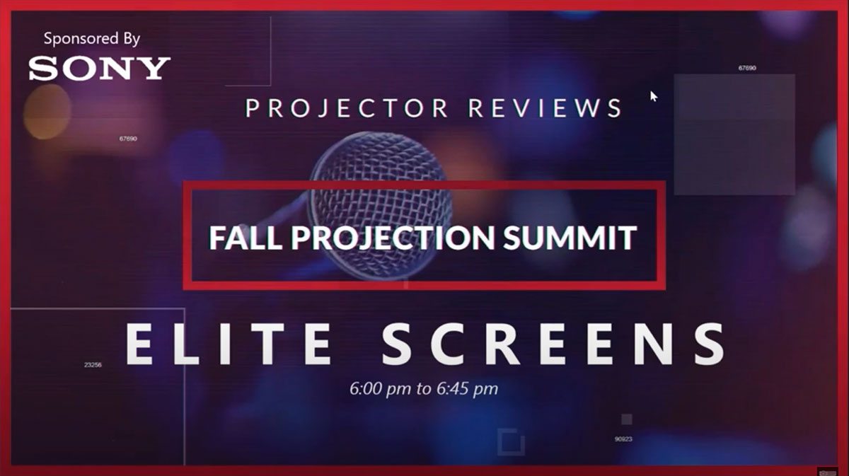Jaime Abrego, Product Manager of Elite Screens, Joins Projector Reviews Fall Projection Summit