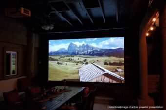 """Spectrum Series 150"""" Electric Motorized Projection Screen   Joelster Review"""