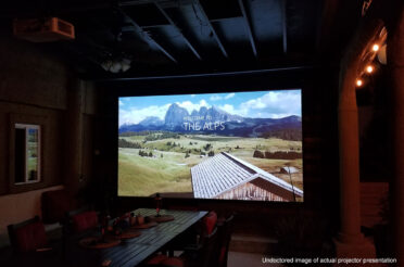 """Spectrum Series 150"""" Electric Motorized Projection Screen 