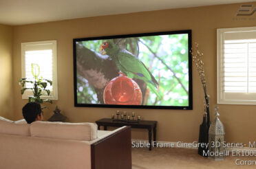 Sable Frame CineGrey 3D® Ceiling Ambient Light Rejecting Fixed Frame Projector Screen – M Type