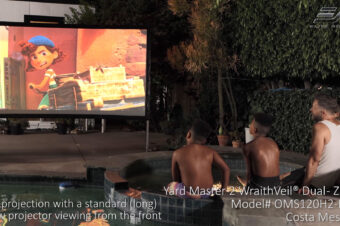 Yard Master 2 WraithVeil® Dual in Costa Mesa, CA | Front and Rear Outdoor Projector Screen