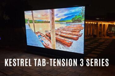 Joelster Reviews the Kestrel Tab-Tension 3 Series | Electric Floor-Rising Projector Screen